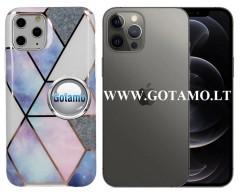 Tiles dėklas nugarėlė Apple iPhone 12, Apple iPhone 12 Pro telefonams violetinės spalvos