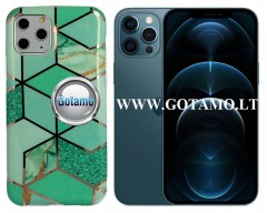 Tiles dėklas nugarėlė Apple iPhone 12 Pro Max telefonams mėtinės spalvos
