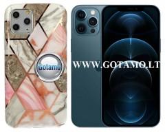 Tiles dėklas nugarėlė Apple iPhone 12 Pro Max telefonams pilkos spalvos