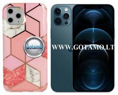 Tiles dėklas nugarėlė Apple iPhone 12 Pro Max telefonams rožinės spalvos