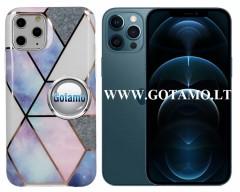 Tiles dėklas nugarėlė Apple iPhone 12 Pro Max telefonams violetinės spalvos