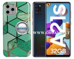 Tiles dėklas nugarėlė Samsung Galaxy A21s telefonams mėtinės spalvos