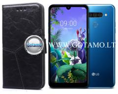 Turtle Dėklas LG Q60 mobiliesiems telefonams juodos spalvos