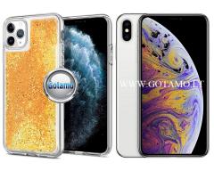 Waterfall2 dėklas nugarėlė Apple iPhone Xs Max telefonams aukso spalvos
