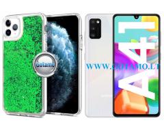 Waterfall2 dėklas nugarėlė Samsung Galaxy A41 telefonams žalios spalvos