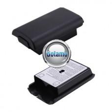 Baterijos dangtelis Microsoft Xbox 360 pulteliui juodos spalvos