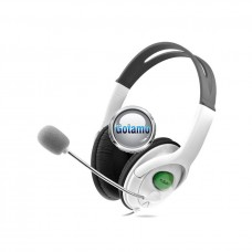 GAMER ausinės Microsoft Xbox 360 konsolei baltos spalvos